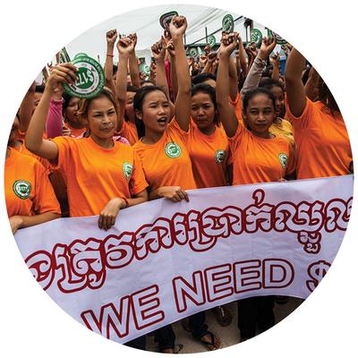 Kledingarbeidsters Cambodja