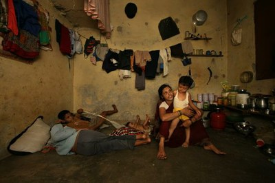 Kledingarbeidster in India