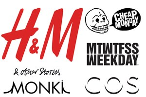 Merken: H&M, Cos, Monki, Weekday, Cheap Monday, & Other Stories