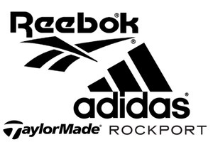 Merken: Adidas, Reebok, TaylorMade, Rockport