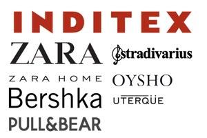 Merken: Zara, Bershka, Stradivarius, Pull & Bear, Massimo Dutti, Oysho, Zara Home, Lefties, Uterqüe