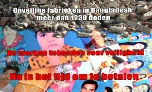 Waar blijft compensatie voor Rana Plaza en Tazreen slachtoffers?!
