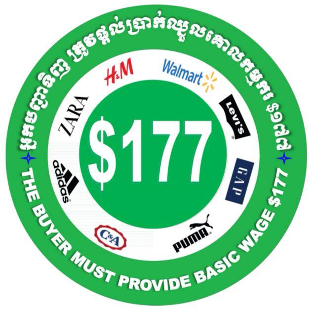 Massaprotesten kledingarbeiders voor hoger minimumloon in Cambodja