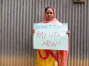 Nabestaanden Rana Plaza-ramp ontvangen compensatie, oproep aan Benetton om mee te betalen