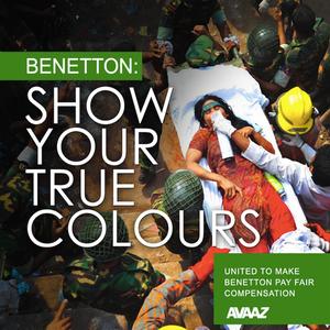 Een miljoen mensen eisen dat Benetton meebetaalt aan  compensatiefonds rampfabriek Rana Plaza