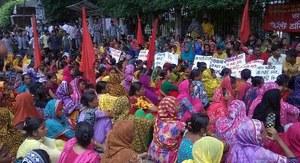 Kledingarbeiders Bangladesh in actie na onbetaald ontslag