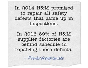 Kledingfabrieken H&M in Bangladesh nog steeds onveilig