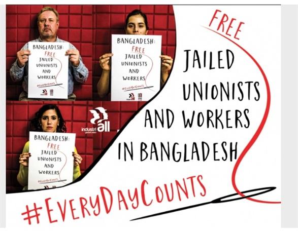 FNV, CNV, Schone Kleren Campagne voeren actie bij ambassade in Den Haag
