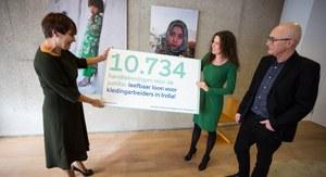 Minister Ploumen ontvangt 10.000 handtekeningen voor leefbaar loon