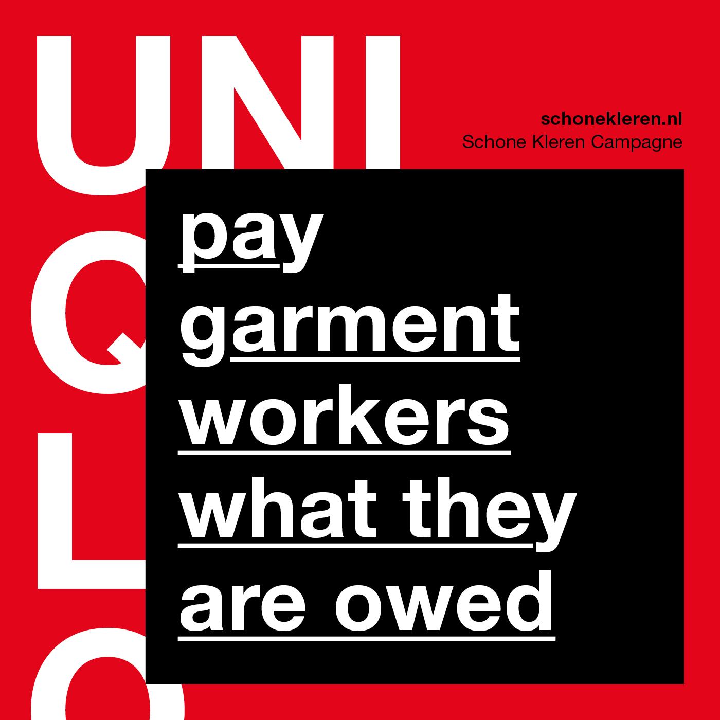 UNIQLO weigert ontslagvergoeding en achterstallig loon van 2000 ontslagen arbeiders te betalen!